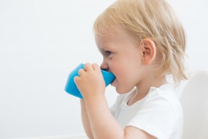 Drinking from the cup avoids forward & backward head movements